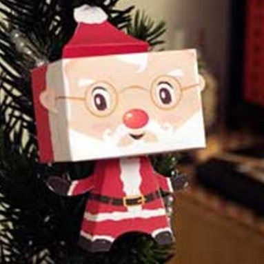 Paper craft on christmas